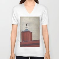 witch V-neck T-shirts featuring Witch by Elina Cate