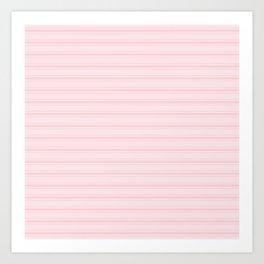Large Millennial Pink Pastel Color Bed Mattress Ticking Stripes Art Print