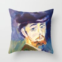 monet Throw Pillows featuring Monet by AnthonyG