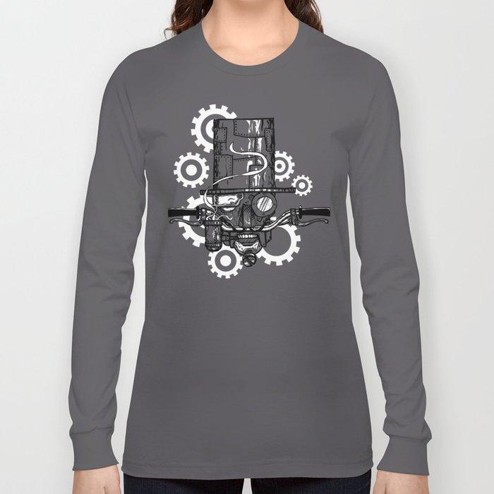 Robot Handlebar Mustache  Long Sleeve T-shirt