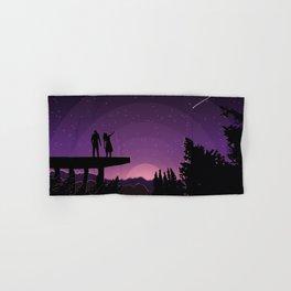 Falling star night Hand & Bath Towel