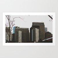 buildings Art Prints featuring Buildings by Genevieve Einwalter