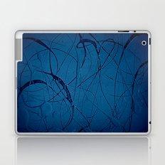 Pollock Inspired Blues Party Laptop & iPad Skin