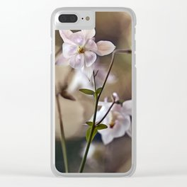 White columbine flowers Clear iPhone Case
