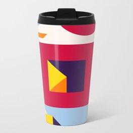 Abstract modern geometric background. Composition 12 Metal Travel Mug