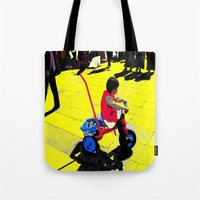 cycling Tote Bags featuring Cycling by lookiz