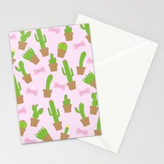 Cute Cacti and Bows Stationery Cards