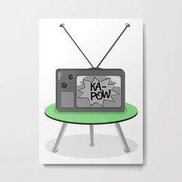 Kapow TV Metal Print