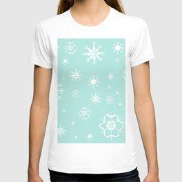 Mint Winter Dream #3 #snowflakes #pattern #decor #art #society6 T-shirt