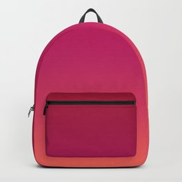 Living Coral Pink Peacock Red Ombre Gradient Pattern Trendy Colors of Year 2019 Backpack