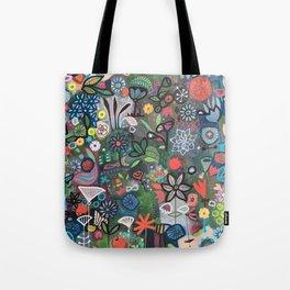 carré fleuri imaginaire 2 Tote Bag