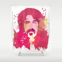zappa Shower Curtains featuring FrankZAPPA by BIG Colours