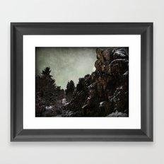 Felsen Framed Art Print