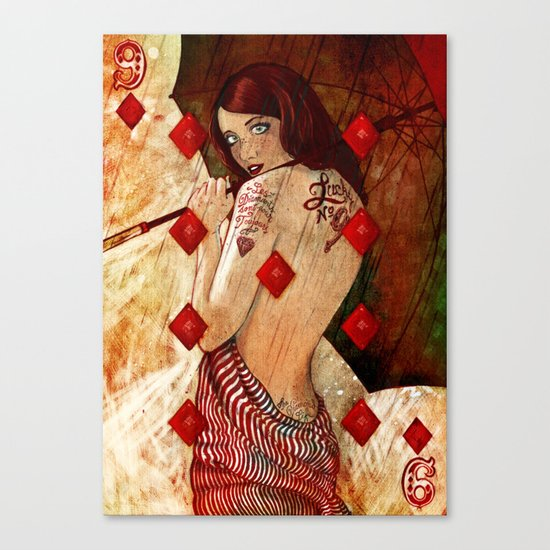 Lucky Number 9 Canvas Print