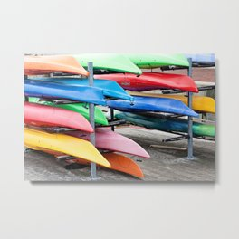 Stacked Metal Print