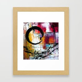 Enso Abstraction No. mm15 Framed Art Print