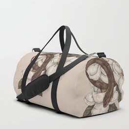 Snake and Magnolias Duffle Bag