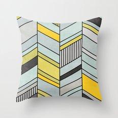 Abstract chevron pattern Throw Pillow