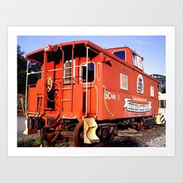Lil Red Caboose -Wellsboro Ave Hurley ArtRave Art Print