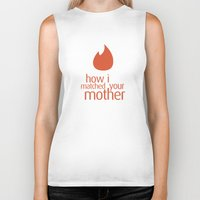 how i met your mother Biker Tanks featuring how i matched your mother by Aldo Cervantes Saldaña