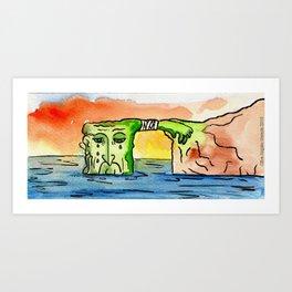 """#mymalta """"Ailing dwejra"""" Art Print"""