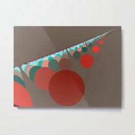 Floating Discs on Brown (B) Metal Print