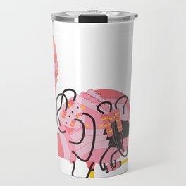 Robot Flamingo Travel Mug