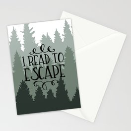 I Read to Escape (Trees) Stationery Cards