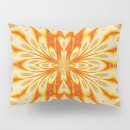 Citrus Lemon Slices and Orange Juice Floral Pattern Pillow Sham