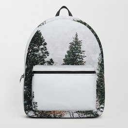 Snow Capped Pine Trees Backpack