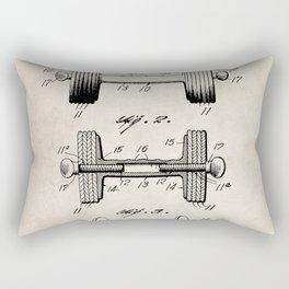 Weight Lifting Patent - Dumb Bell Art - Antique Rectangular Pillow