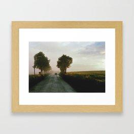 Drive into the Mist Framed Art Print