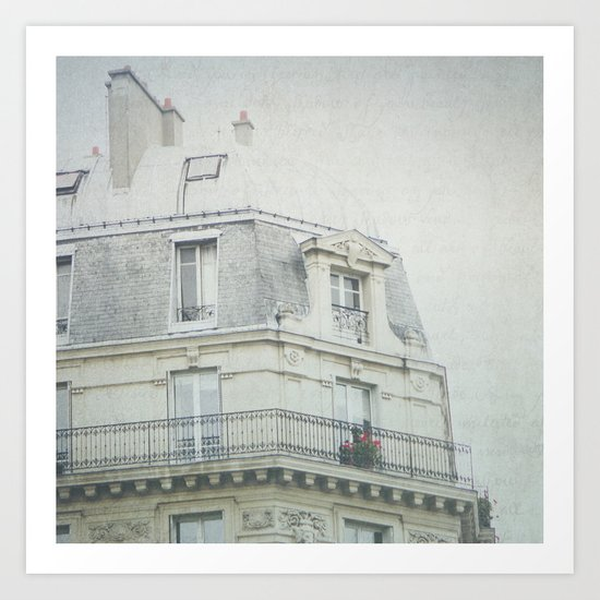 Letters From la vie à Paris Art Print