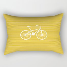 Yellow Bike by Friztin Rectangular Pillow
