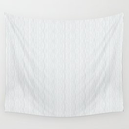 Minimalist black white modern hand drawn stripes Wall Tapestry