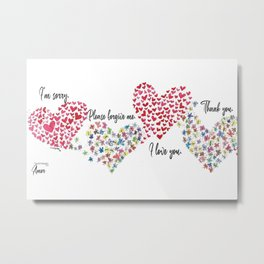The Hearts and The Butterflies Metal Print