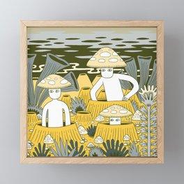 Mushroom Men Framed Mini Art Print
