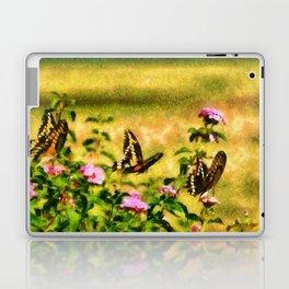 Three Giant Swallowtails - Monet Style Laptop & iPad Skin