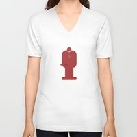 daredevil V-neck T-shirts featuring Daredevil by Carter Payne