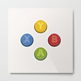 Xbox - Buttons Metal Print