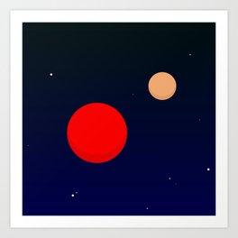 Two planets Art Print