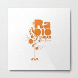 """Radiohead """"Last flowers"""" Song / Orange version Metal Print"""