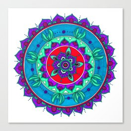 Little Mermaid Inspired Mandala Art Canvas Print