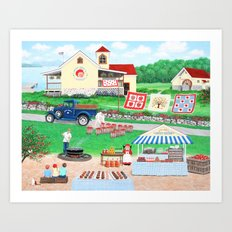 Aunt Abby's Apples Art Print