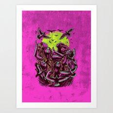 FLAYING BACK Art Print