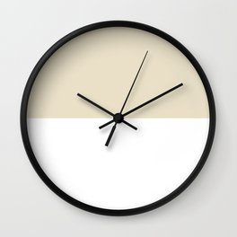 White and Pearl Brown Horizontal Halves Wall Clock