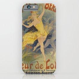 folies bergere   fleur de lotus. 1893  oude poster iPhone Case
