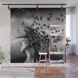 Flock of Crows Wall Mural