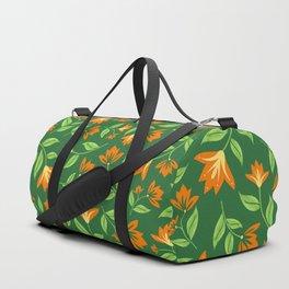 Vintage Orange Blossoms Duffle Bag
