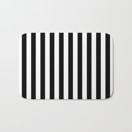 Vertical Stripes (Black/White) Bath Mat